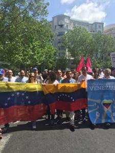 Berzal en manifestación Venezuela